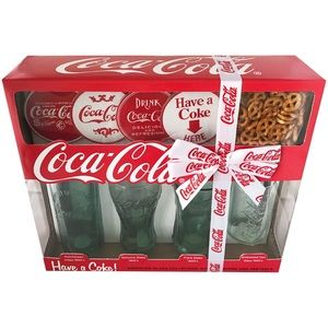 Coca-Cola Glass Collection Gift Set, 9 Pieces